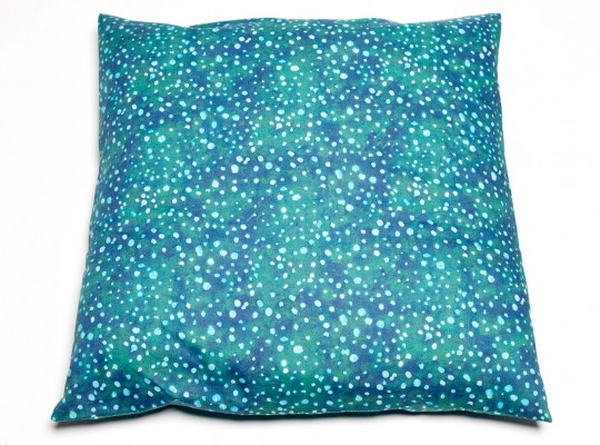 joli coussin imprimé pois vert liberty of london-tiliah design paris