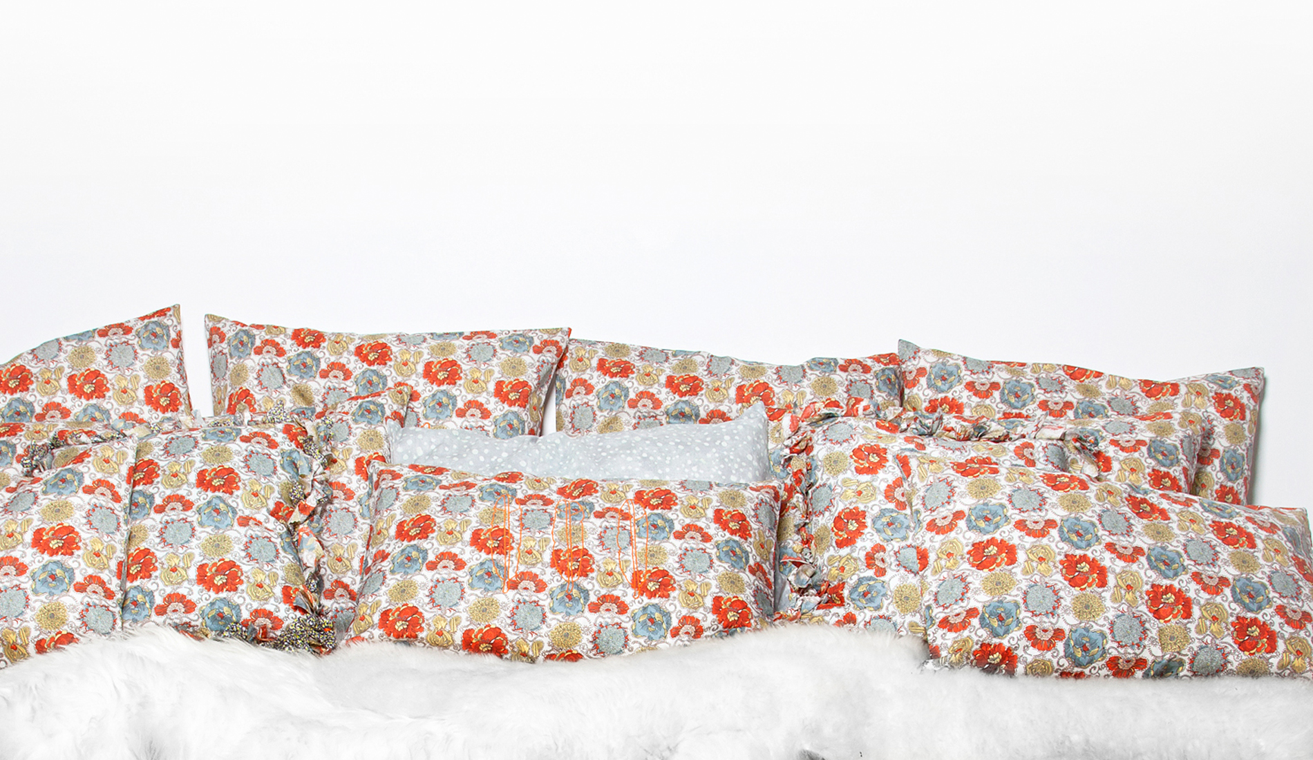 ensemble coussins en coton liberty of london fait main en france-tiliah design paris